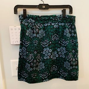 Banana Republic - Green/Blue Floral Mini Skirt 00P